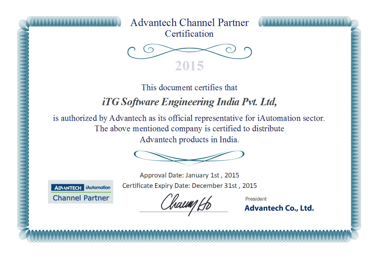 Certifications itg india advantech channel partner 2015 1betcityfo Choice Image